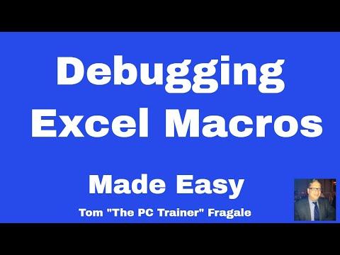 Debugging excel macros  - How to debug macros in Excel 2016 2013 2010 2007 VBA code tutorial