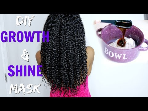 DIY Hair Growth & Shine Deep Conditioner on Natural Hair