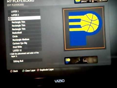 Black Ops Custom Emblem Tutorial - Indiana Pacers Logo