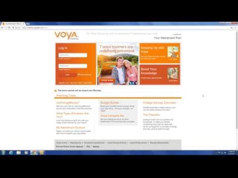 Financial Wellness Series:  Voya Online Retirement