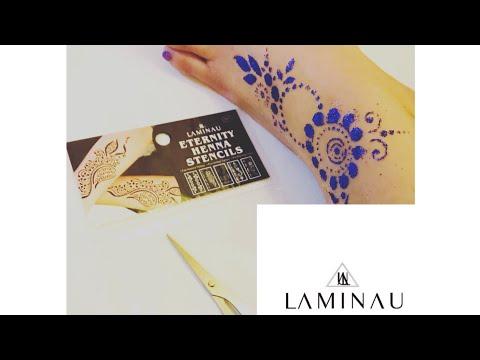 Sparkle Glitter Press On Print Henna Stencils