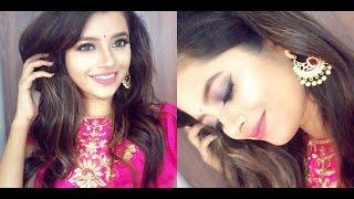 Indian Wedding Guest Makeup Tutorial-Blue+Pink Long lasting Makeup Shweta Makeup&Beauty
