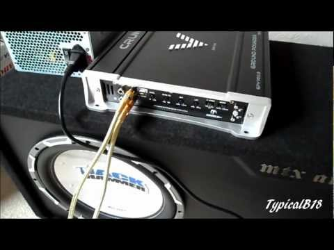 Part 2: (How To) Set Up PSU + Car Amp/Subwoofer In Home (Re-Do Video)