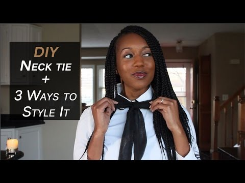 DIY: Neck and bow tie (Beginner Friendly)
