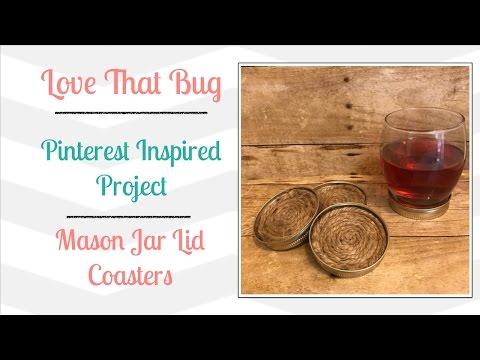Friday PIP | Mason Jar Lid Coasters