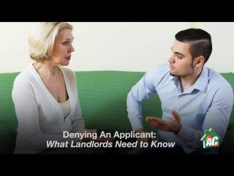 Denying an Applicant: What Landlords Need to Know