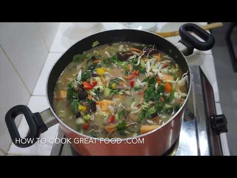 Homemade Chicken Noodle Soup - Flu Fighter Chicken Soup - West Indian Jamaican Caribbean Style