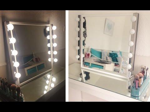 My DIY Hollywood Inspired Vanity Mirror