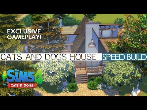 The Sims 4 Cats & Dogs - FIRST SPEED BUILD EVER!!