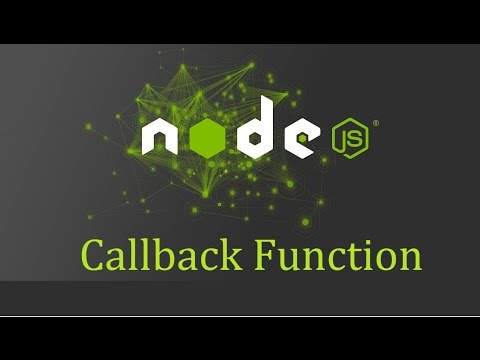 Node js Tutorial for Beginners - 4 - Callback Function