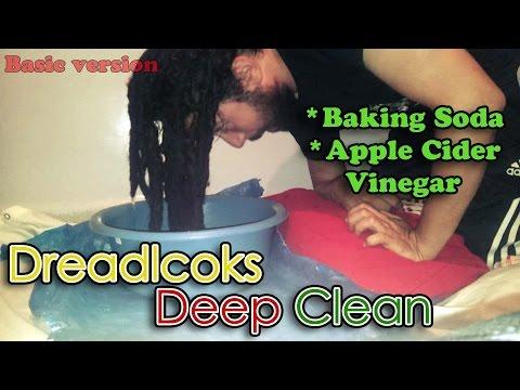 How to Deep Clean Dreadlocks - Baking Soda ACV Soak