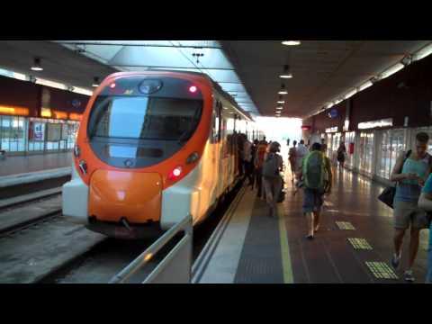 TRAIN SHUTTLE AIRPORT T2 BARCELONA SPAIN