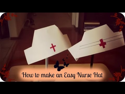 How to make an Easy Nurse Hat