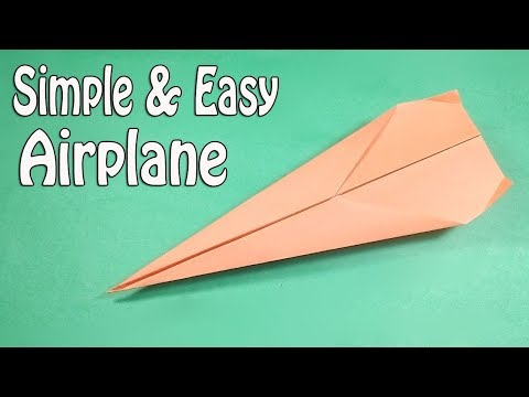 How to make Paper Airplanes that fly far and straight - Easy Paper Origami