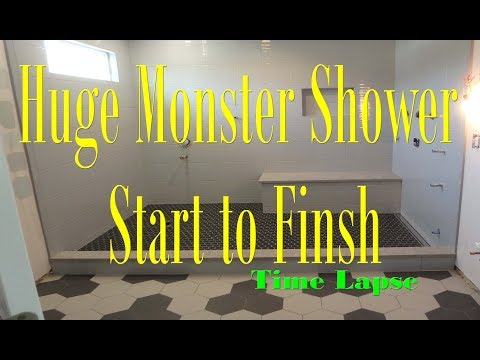 Complete install Monster Steam Shower Time Lapse start to finish Schluter Systems.