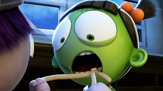 Funny Animated Cartoon | Spookiz Wiggle Wiggle Frankenstein Girl's Tooth | 스푸키즈 | Cartoon for Kids