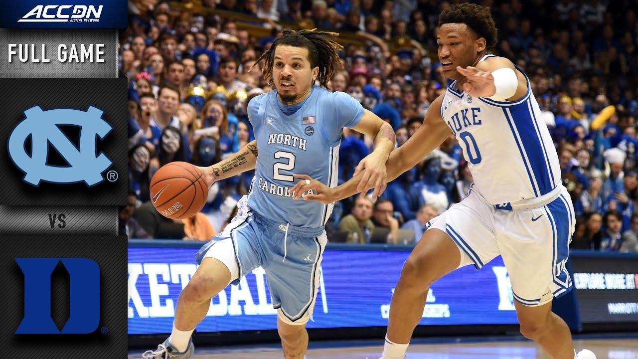 North Carolina vs. Duke Full Game   2019-20 ACC Men's Basketball