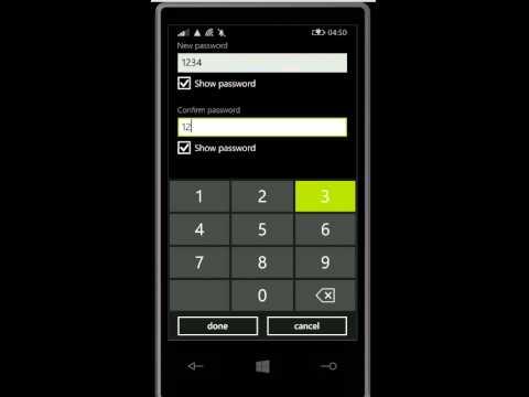 How To Set Password On Any Windows Phone