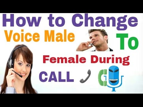 how to change voice during call on android