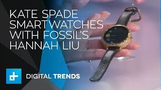 Hannah Liu, Strategy Director of Fossil Wearables with Kate Spade - Live Interview at CES 2018