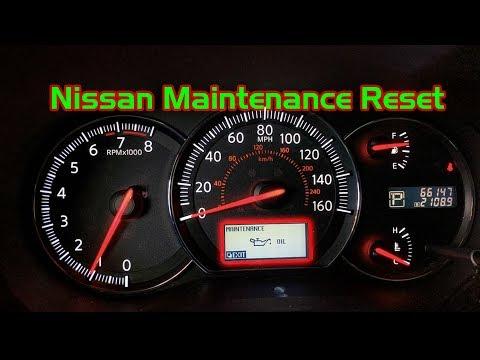 Nissan Maintenance / Oil Change Light Reset