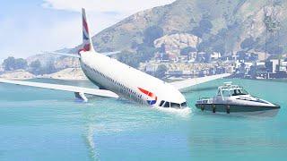 A320 Emergency Landing Crash On Water When Pilot Got Too Sick | GTA 5