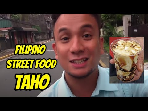 Kain tayo! (Let's eat!) Taho (silken tofu dessert with tapioca pearls and syrup)