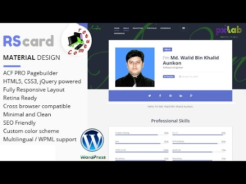 How to Customize Material Design Rs Card Wordpress Theme  Part   01