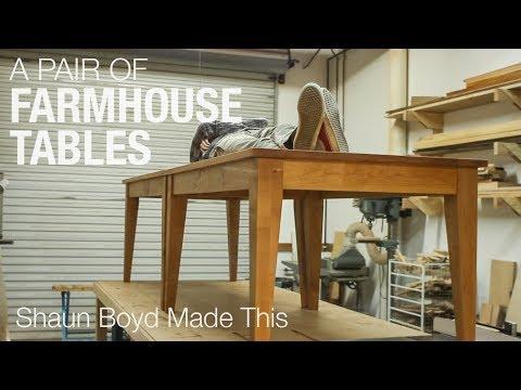 Building Farmhouse Tables - Shaun Boyd Made This