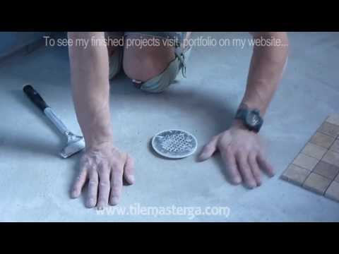 How to install shower pan and float floor mud bed.  Part