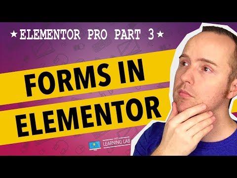 Elementor Pro Part 3 - Elementor Form Builder