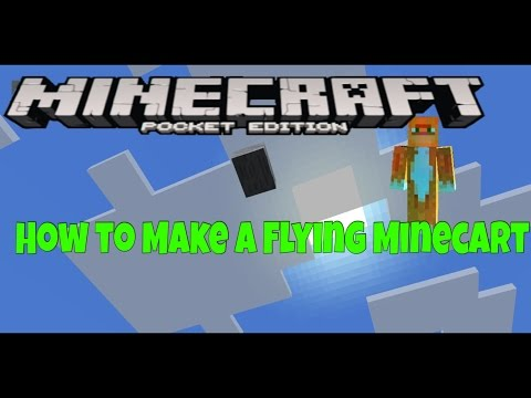 Minecraft P.E. - How to Make Flying Minecarts (0.12.1)