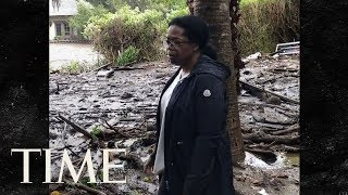 Oprah Shows Effect Of California Mudslides On Her Home:
