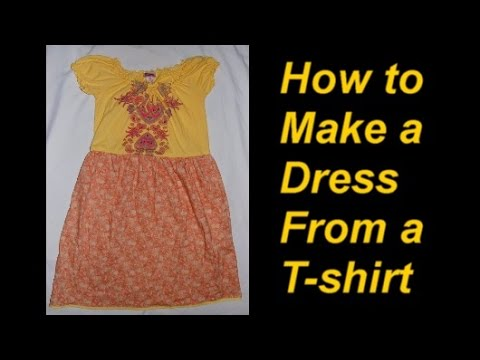 How to Turn a T-shirt into a Dress, Part 1