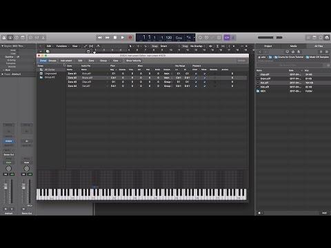 Importing samples into Logic X (Creating custom kits)