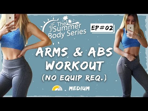 Lean Arms Workout | Toned Arms and Abs Exercises | At Home Workout