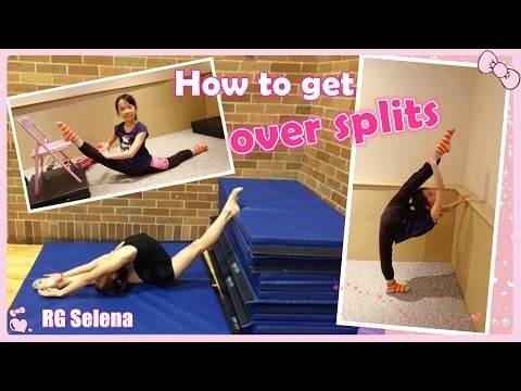 How to do over splits stretches for Rhythmic Gymanstics & Dance | RG Selena