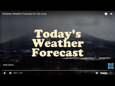 Pakistan Weather Forecast For 3rd June