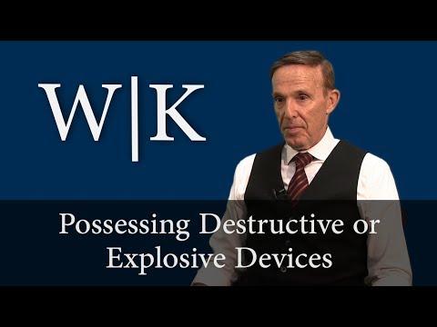 Possessing Destructive or Explosive Devices (PC 18710-18780)