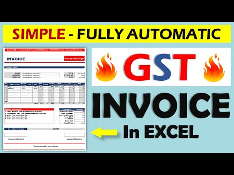 How To Create GST Invoice In Excel    Fully Automatic Invoice Template    In Hindi