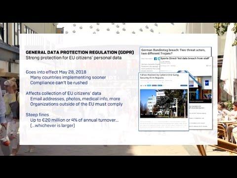 The EU GDPR   How Sophos helps