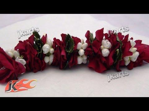DIY Gajra / Veni / Flower Garland for Indian Wedding   How to make   JK Arts 180