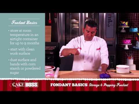 How to Store and Prepare Fondant - Fondant Basics Part 1 - Cake Boss Baking
