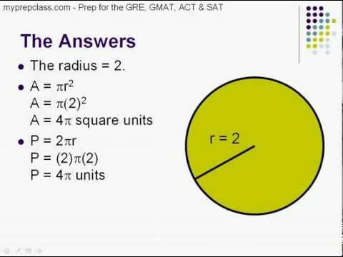 Circles - GRE, GMAT, SAT, ACT prep - Basic Geometry