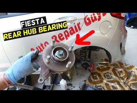 FORD FIESTA REAR WHEEL HUB BEARING REPLACEMENT MK7 ST