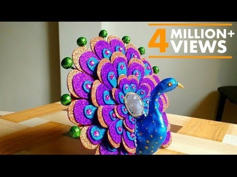 DIY - How To Make Peacock| Best Out Of Waste | Home Decor | Show piece | By Punekar Sneha.
