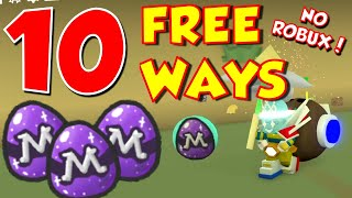 10 FREE WAYS TO GET MYTHIC EGGS in BEE SWARM SIMULATOR