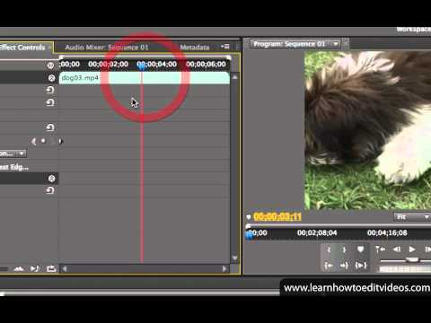 Keyframing - Adobe Premiere Pro CS5 Video Tutorials