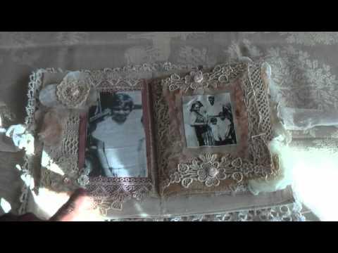 Scrapbook Vintage Heritage Fabric Mini Album