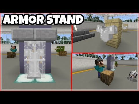 MCPE Tutorials: 6 Armor Stand Builds/Decorations - Minecraft PE 1.2